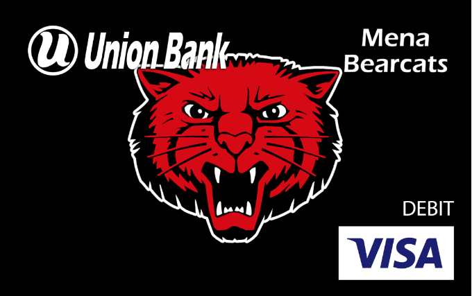 Mena Bearcats logo visa debit card
